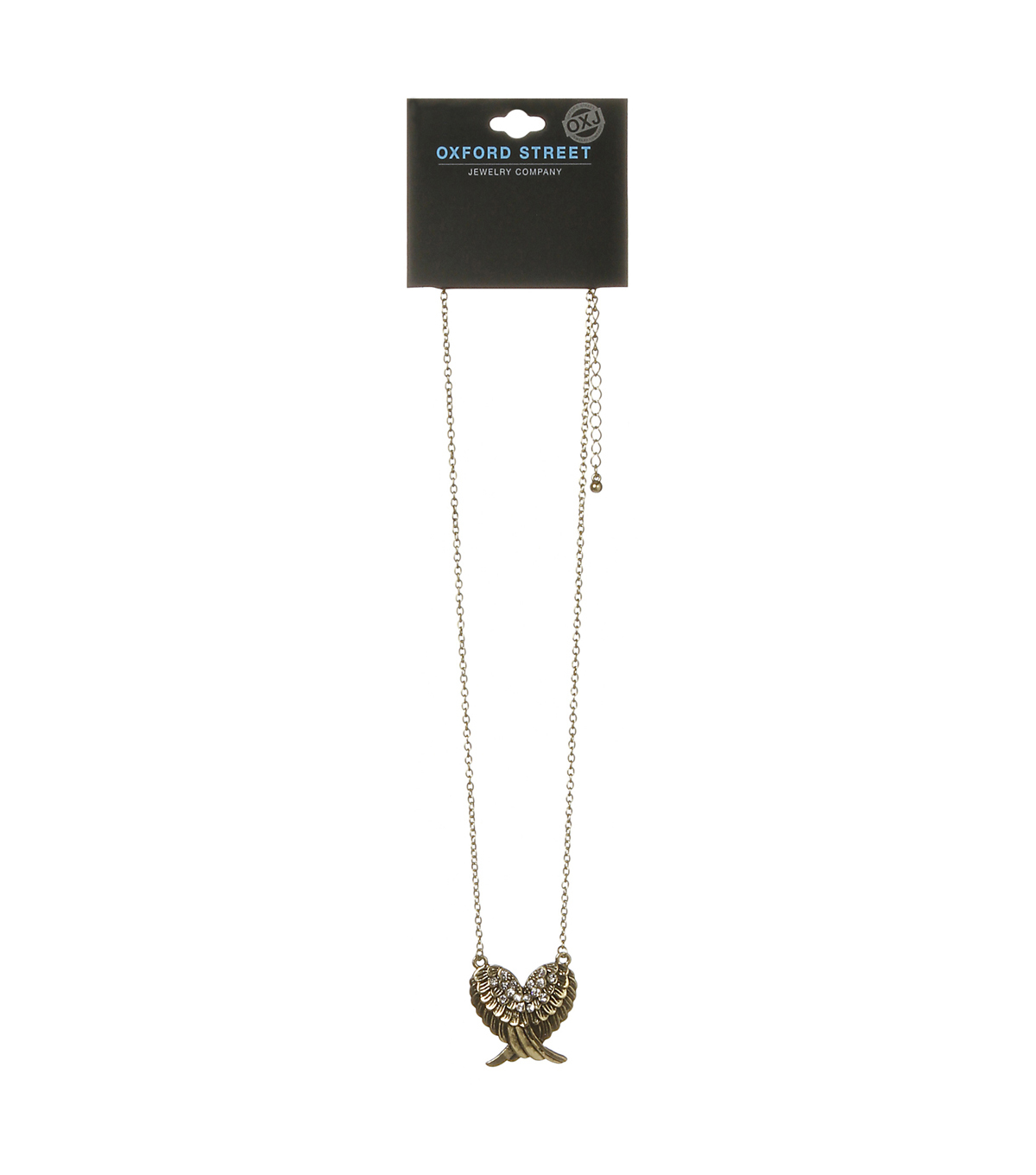 Oxford Street Jewelry Co. Feather Heart Pendant Necklace