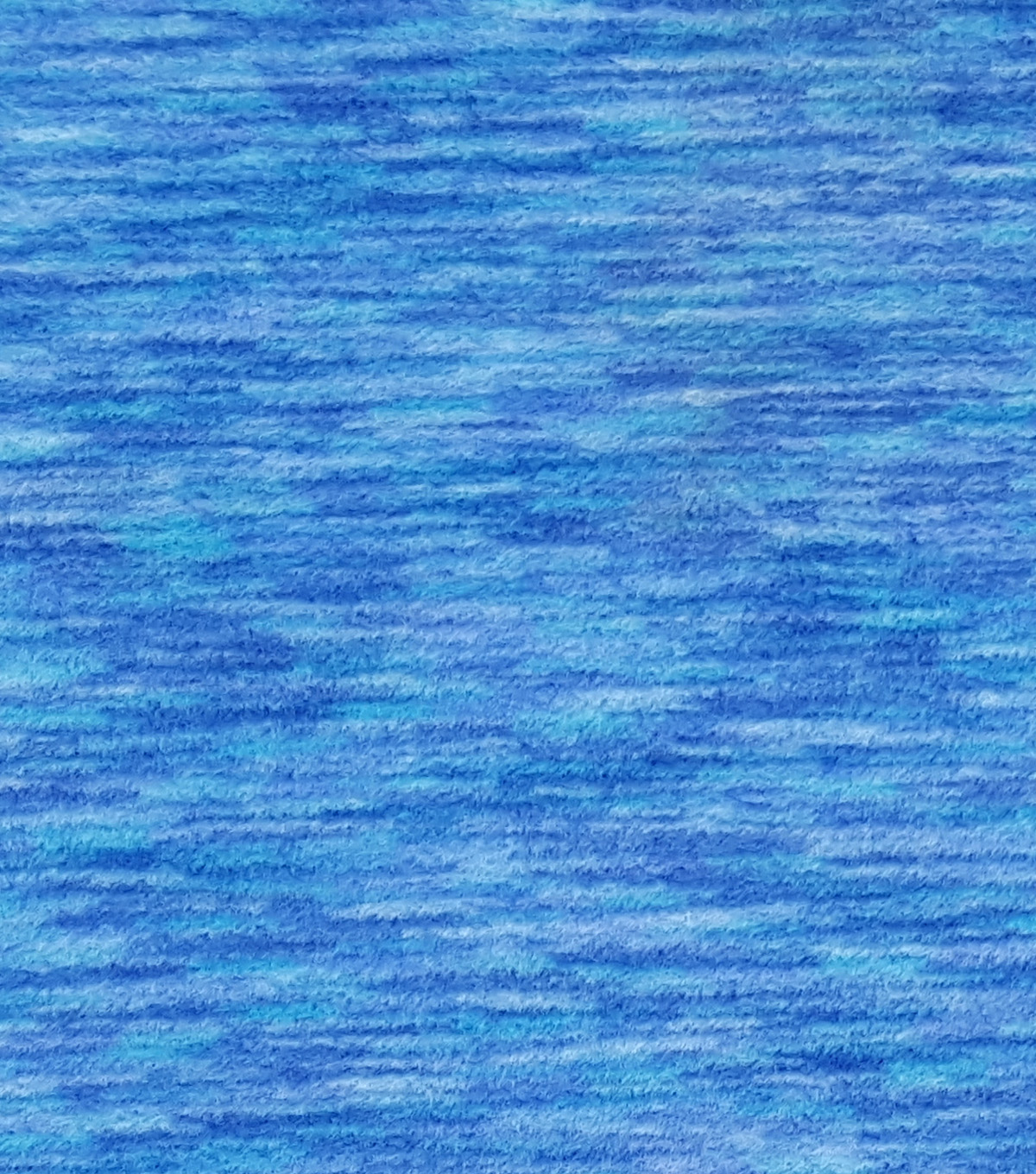 Luxe Fleece Fabric -Blues Space Dye