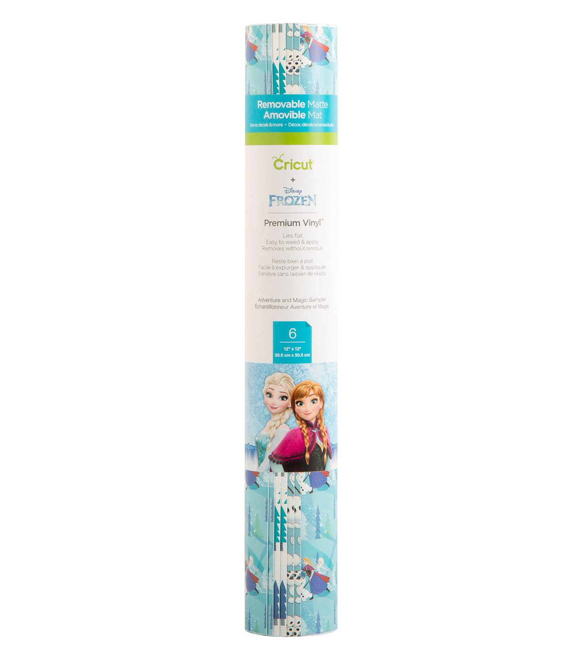 Cricut 12\u0022x12\u0022 Patterned Vinyl-Disney Frozen Adventure and Magic