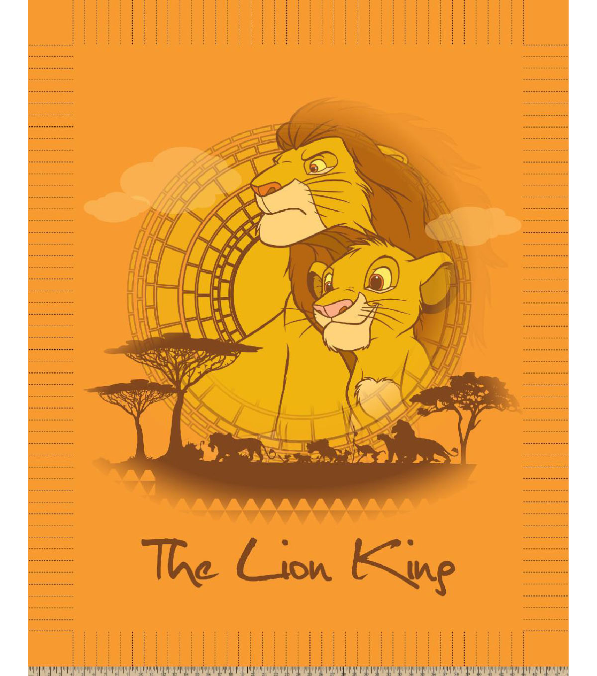 Disney The Lion King No Sew Fleece Throw-Panel