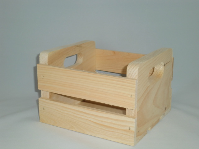 Small Crate With Handle Cutout