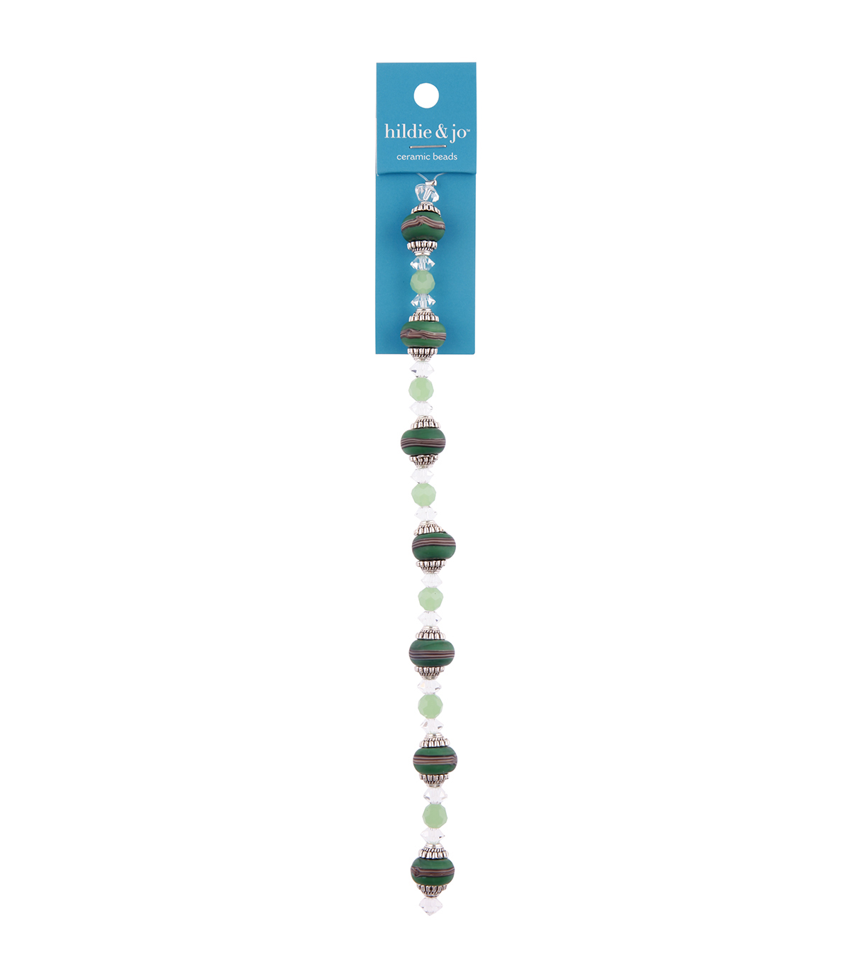 hildie & jo 7\u0027\u0027 Ceramic Strung Beads-Green