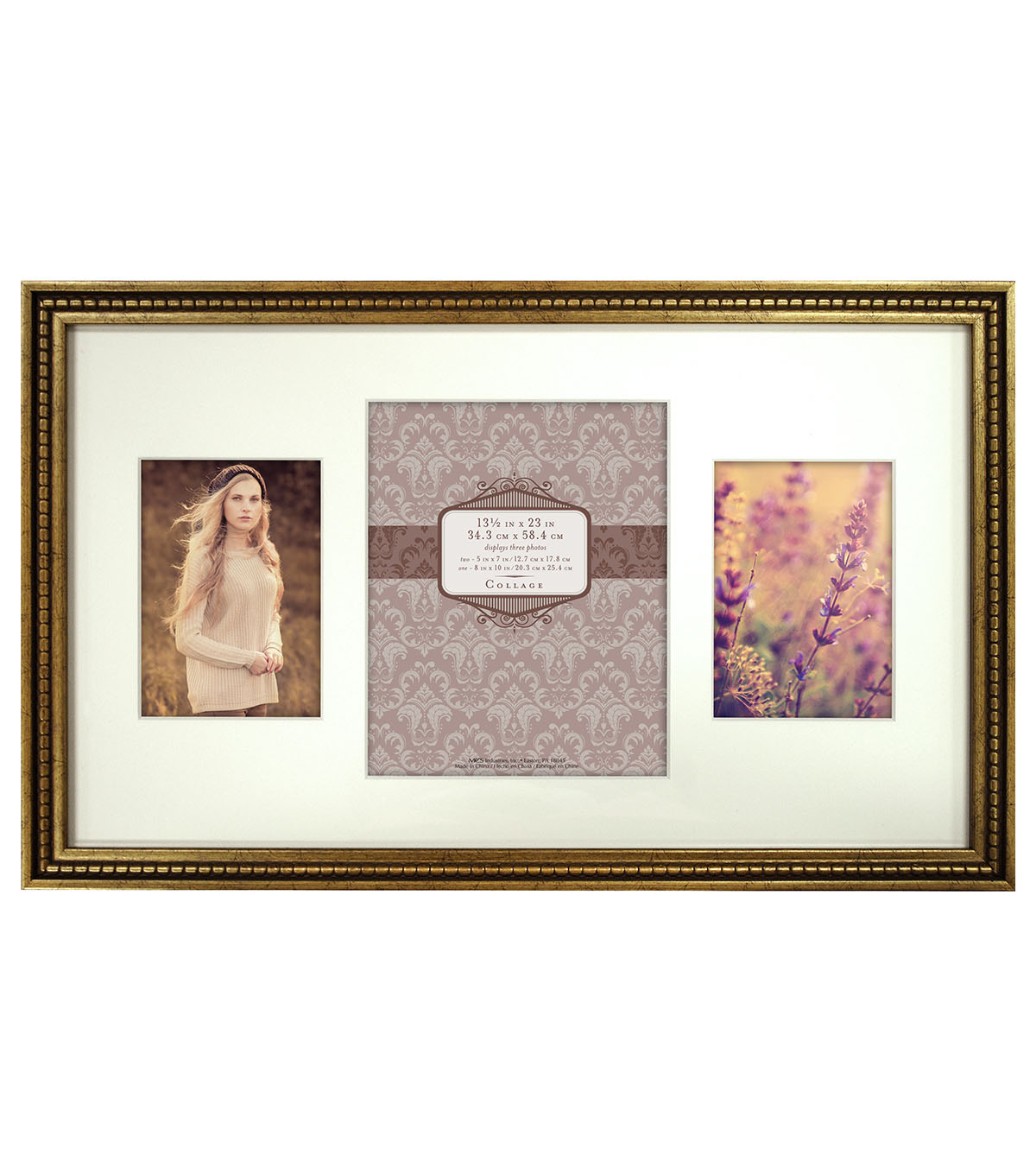 a2b9b54cd7 Wall Frame One 8X10 Two 5X7-Gold Bead Collage