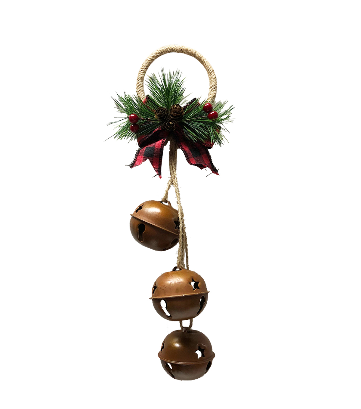 Maker\u0027s Holiday Christmas Large Jingle Bells-Rustic