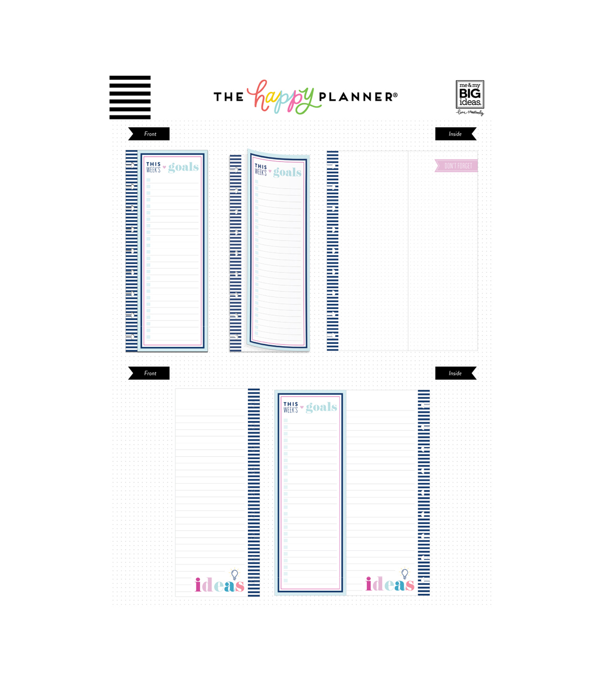 The Happy Planner 40 pk Classic Goals Folded Sheets