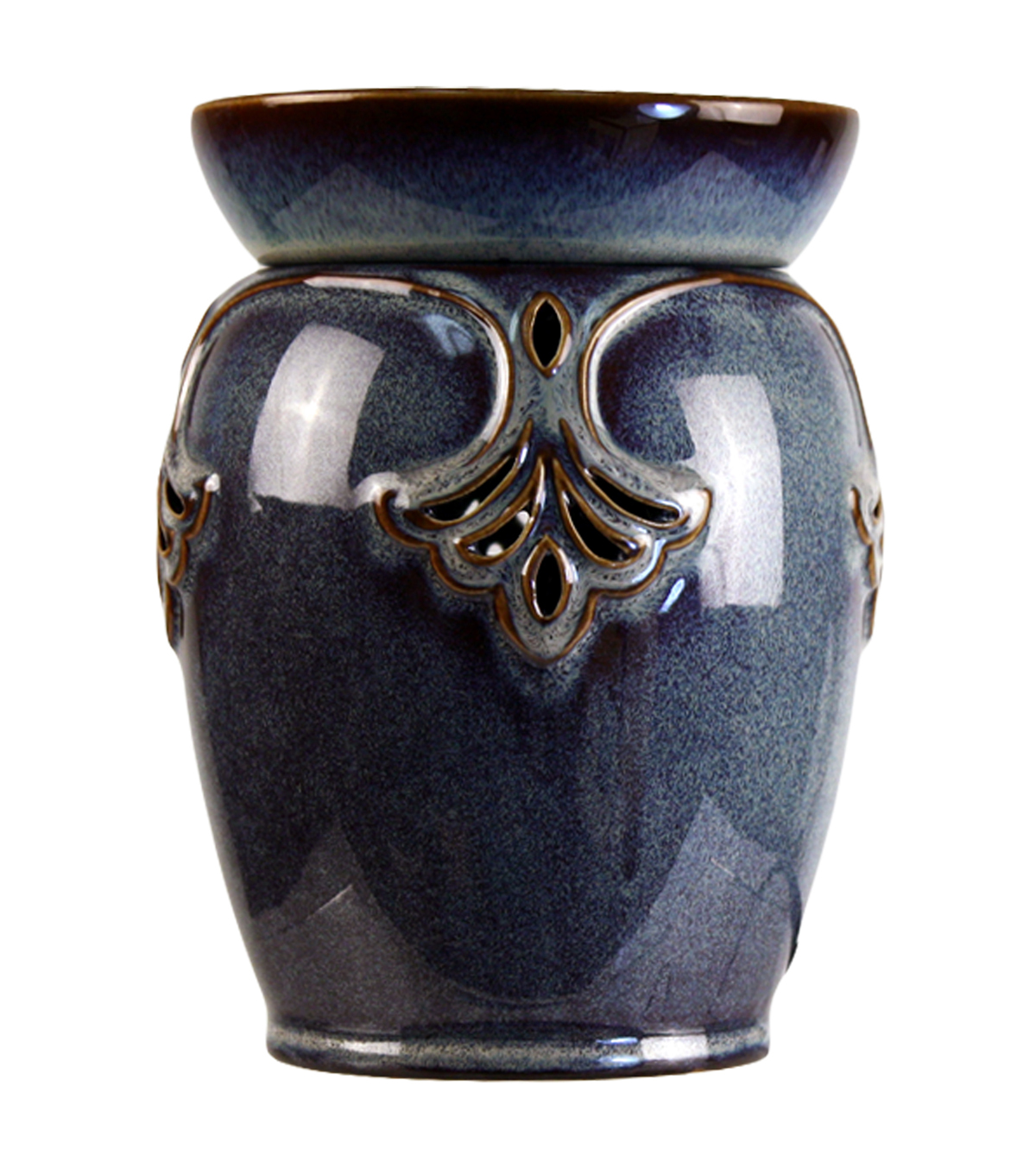 Hudson 43 Candle & Light Art Deco Candle Warmer-Blue