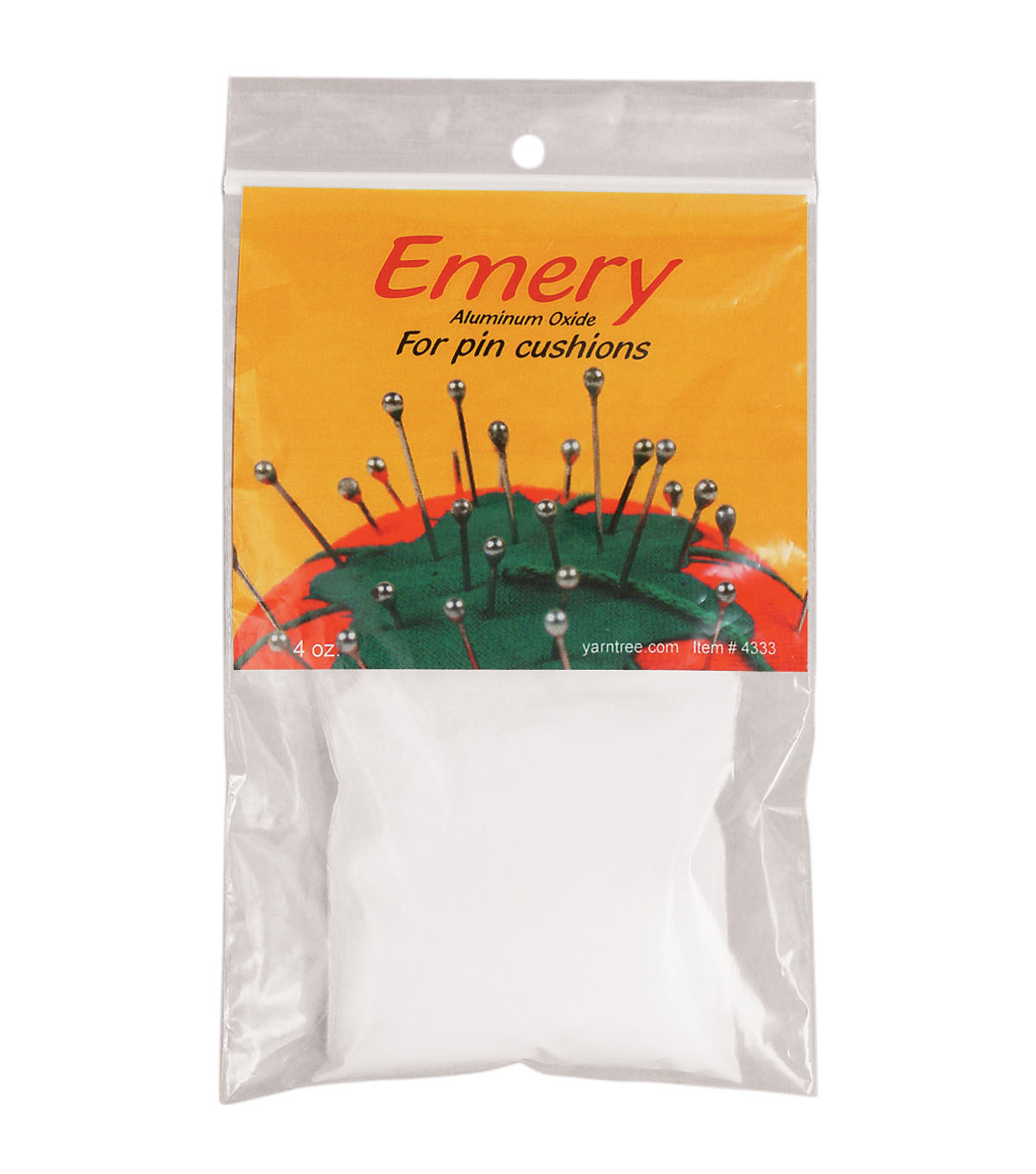 Yarn Tree White Emery For Pincushions-4oz