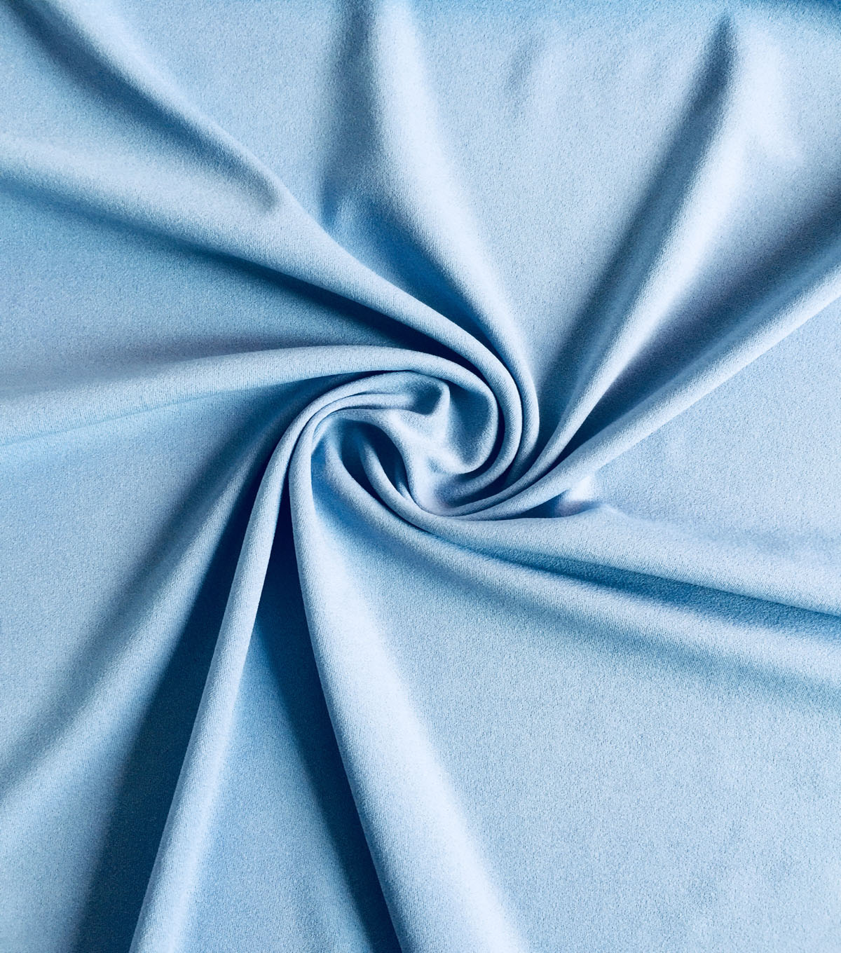 Spring Garden Stretch Knit Crepe Solid Fabric-Powder Blue
