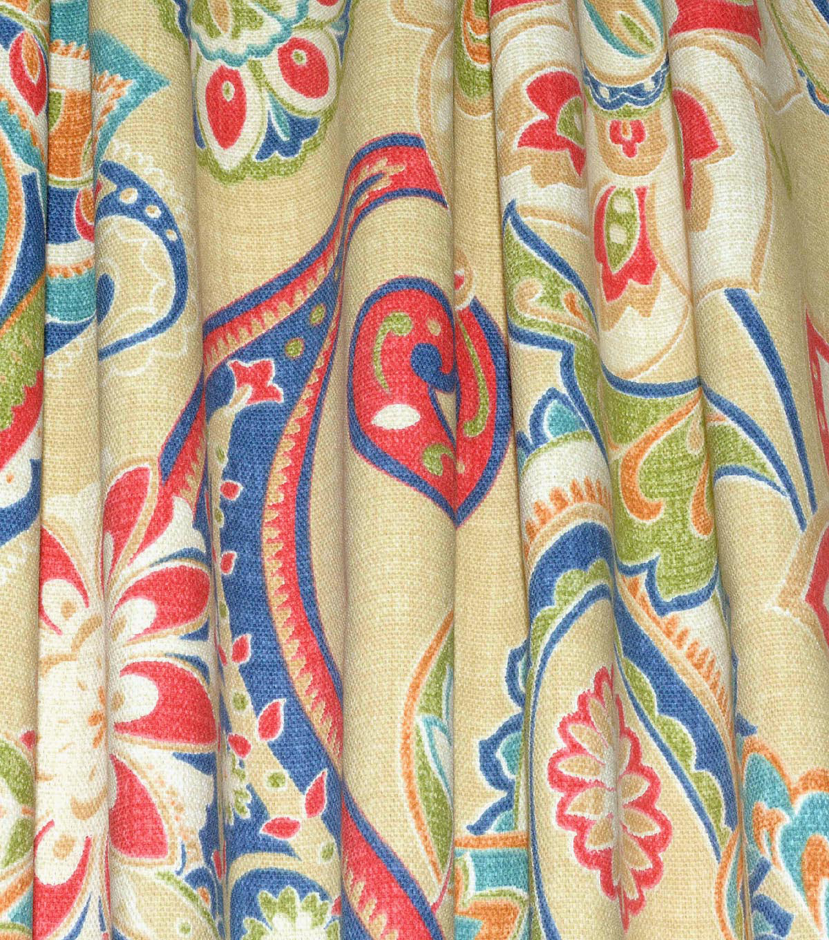 Waverly Upholstery Fabric 13x13\u0022 Swatch-Wild Card Bluebell
