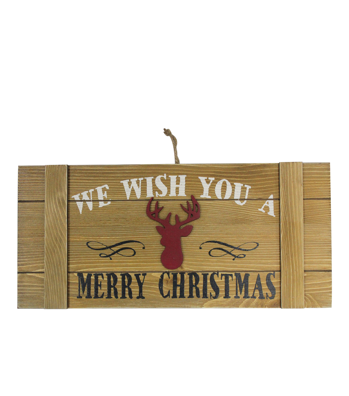 Maker\u0027s Holiday Wall Decor-Stag & We Wish you a Merry Christmas