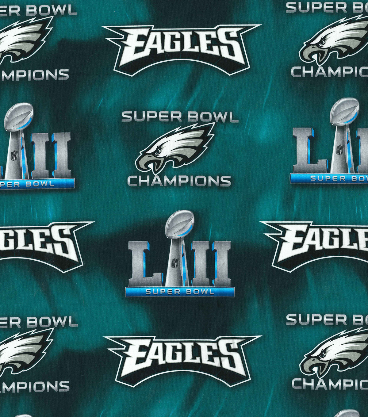 26ef54b6a04fd Philadelphia Eagles Super Bowl 52 Championship Cotton Fabric