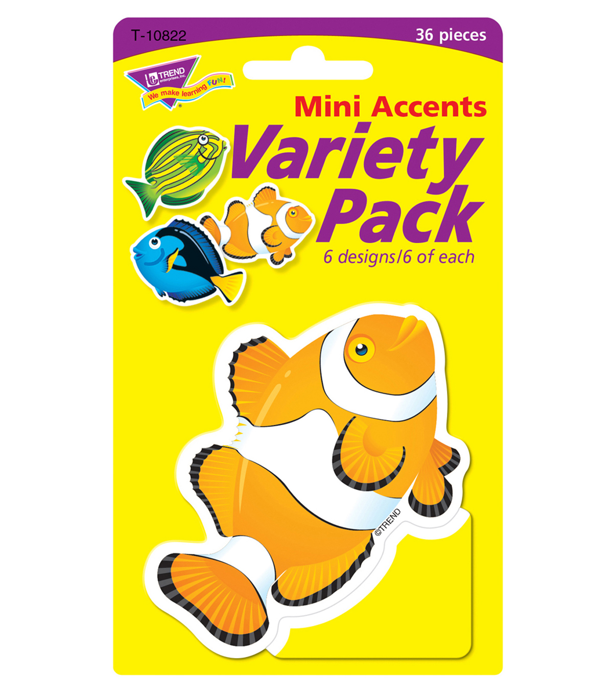 Fish Mini Accents Variety Pack, 36 Per Pack, 6 Packs