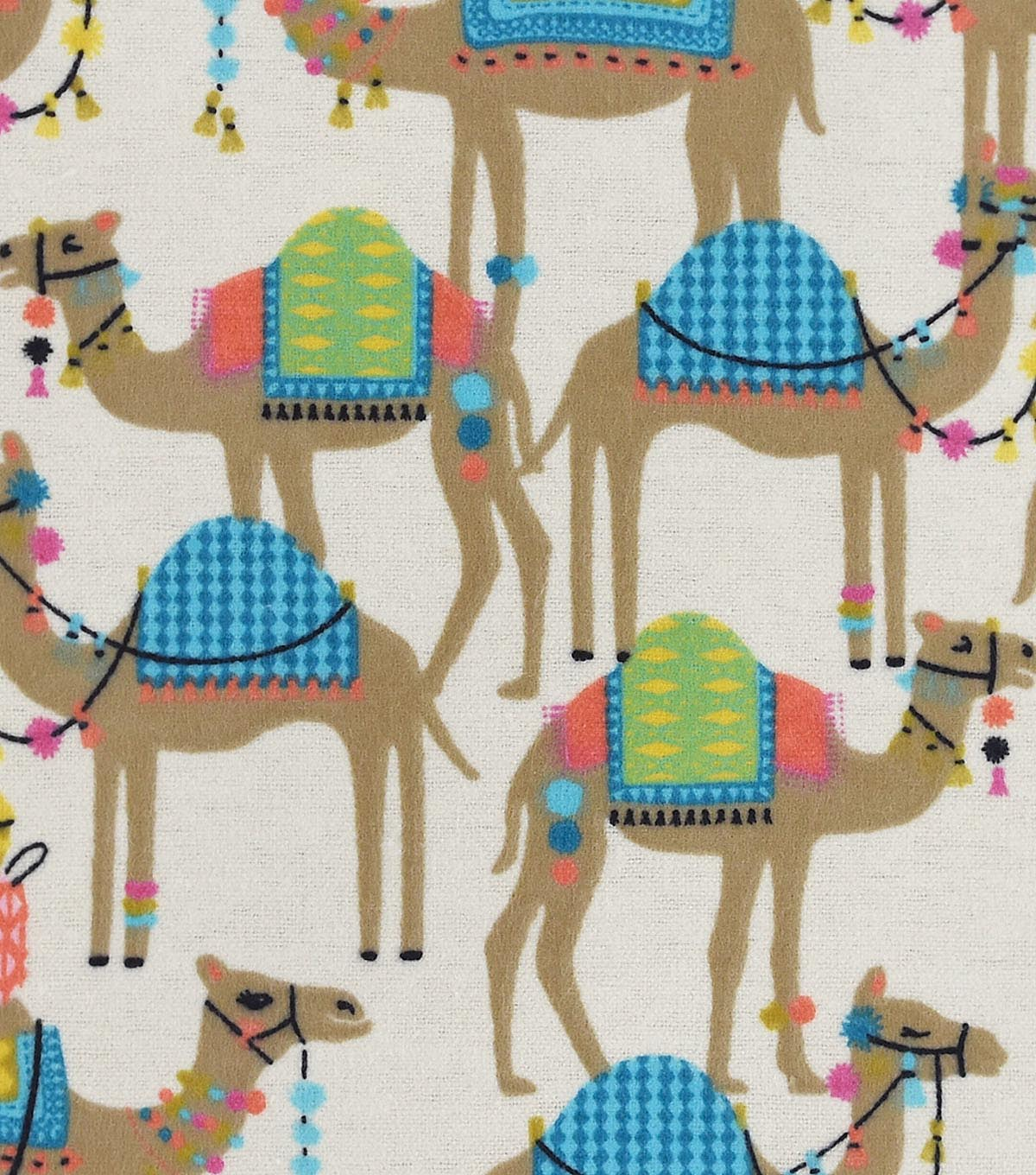 Snuggle Flannel Fabric -Sassy Camel