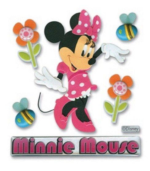 Mickey And Minnie Mouse Stickers.Mickey Mouse Clubhouse 3d Stickers Minnie Mouse