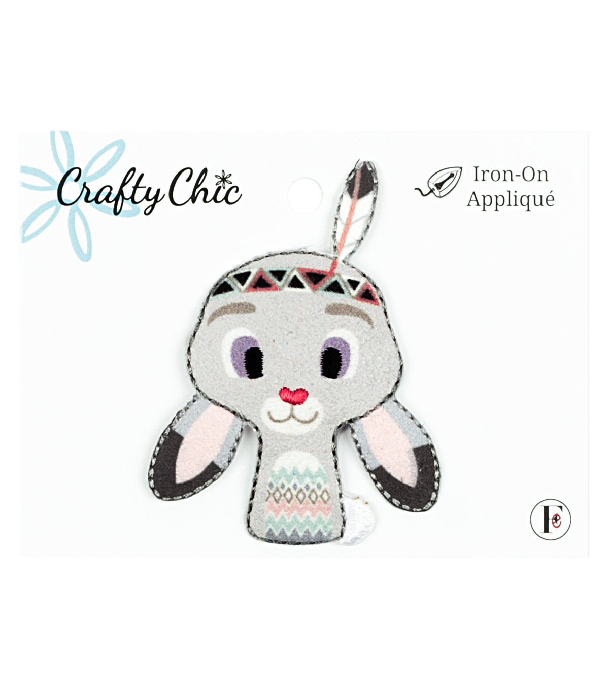 Crafty Chic 2\u0027\u0027x2.5\u0027\u0027 Tribal Rabbit Iron-on Applique