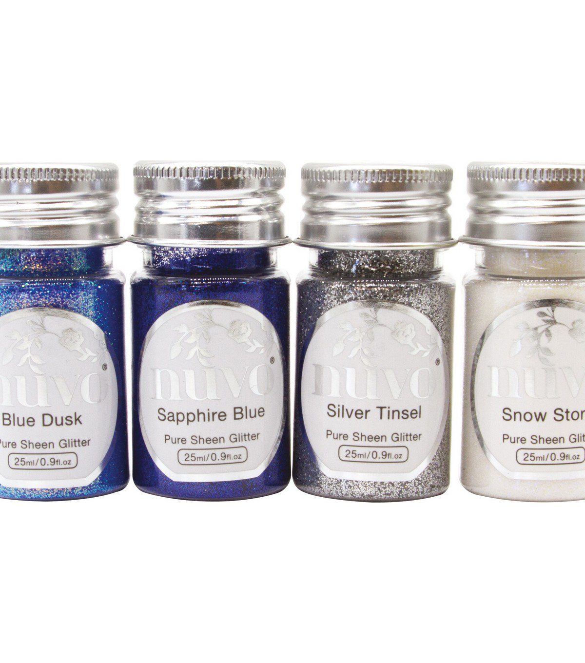 Nuvo Pure Sheen Glitter 4/Pkg-Let It Snow