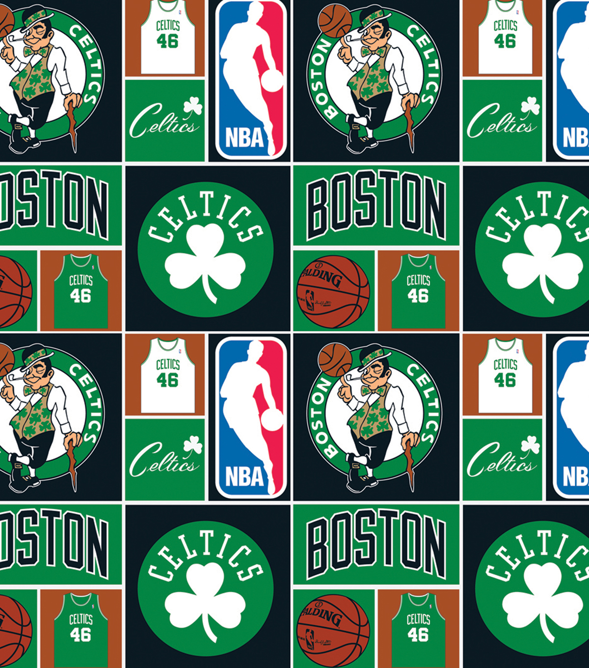 Boston Celtics Patch Cotton Fabric 44 Joann