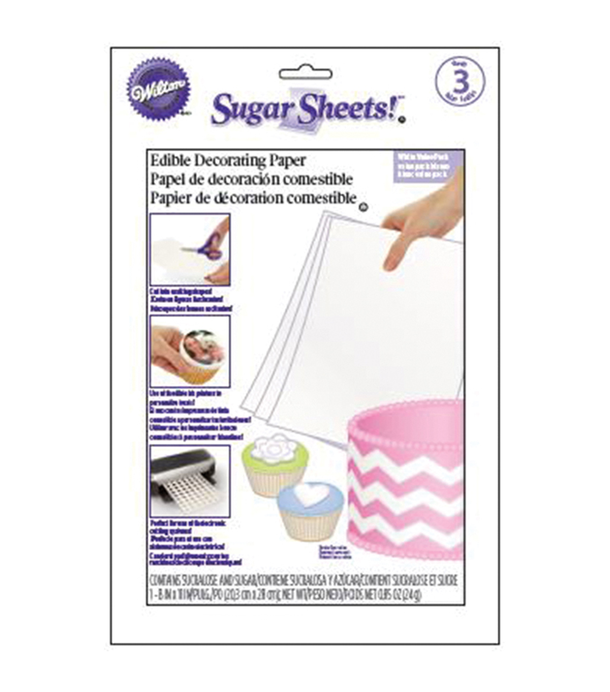 Wilton Sugar Sheets 3/Pkg-White