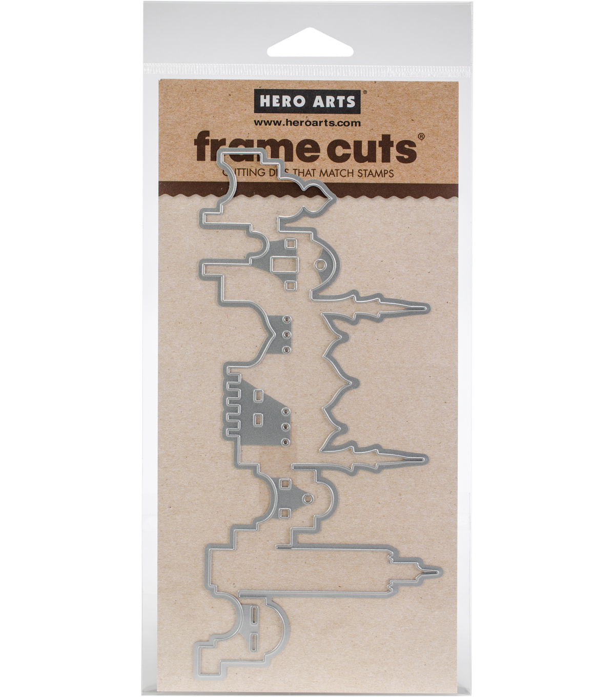 Hero Arts Frame Cuts 7.13\u0027\u0027x3.38\u0027\u0027 Fancy Cutting Die-City Skyline