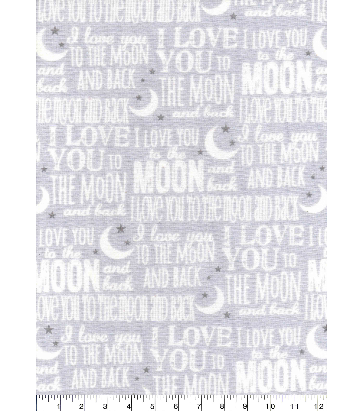 Nursery Cotton Fabric -Love You To The Moon & Back