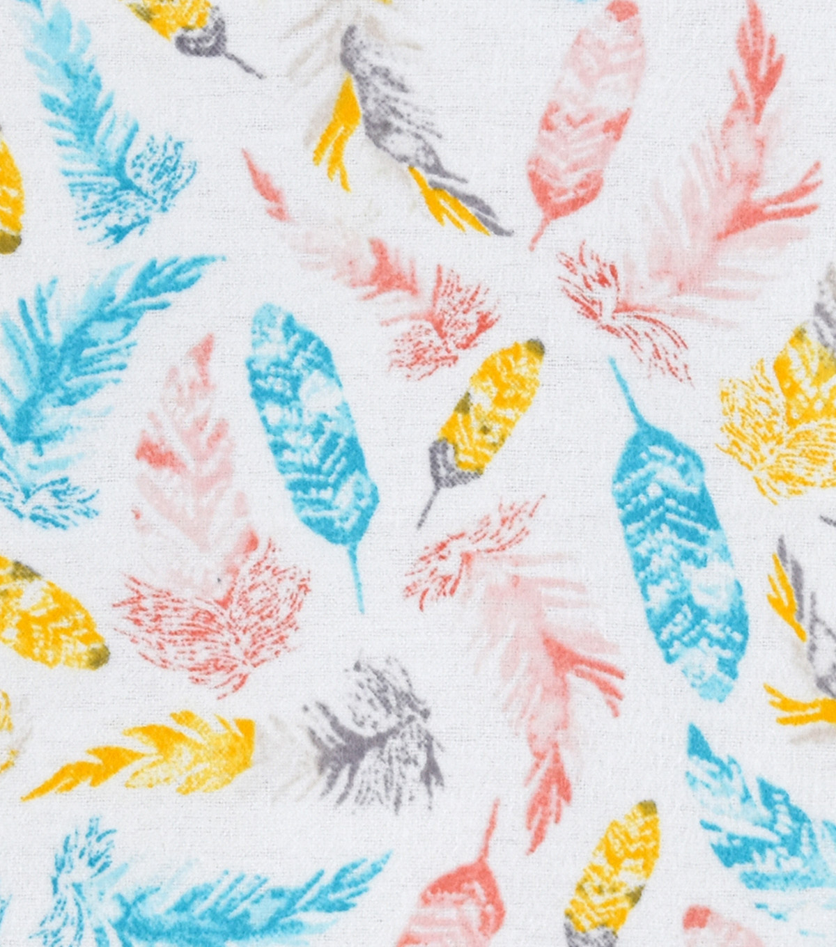 Snuggle Flannel Fabric -Wildflower Feathers