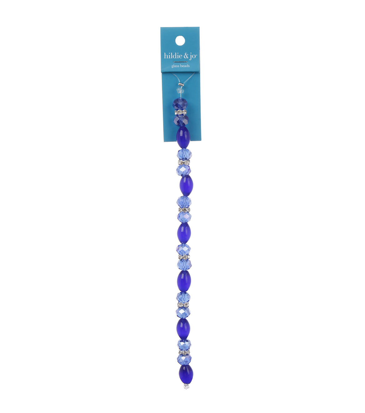 Blue Moon Beads 7\u0022 Crystal Strand, Cat\u0027s Eye with Metal Spacers, Royal Blue