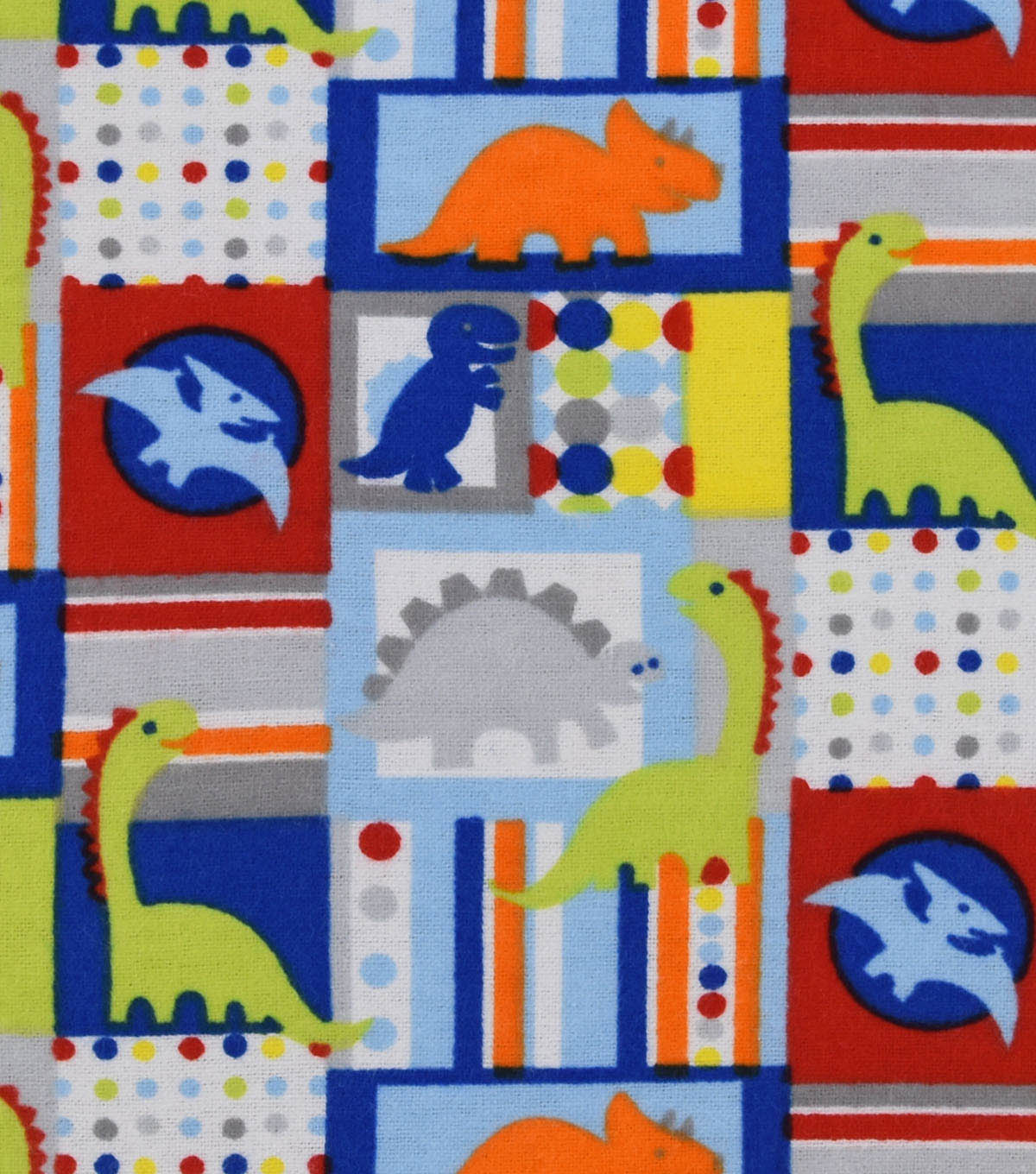 Nursery Flannel Fabric 42\u0022-Rex Patch