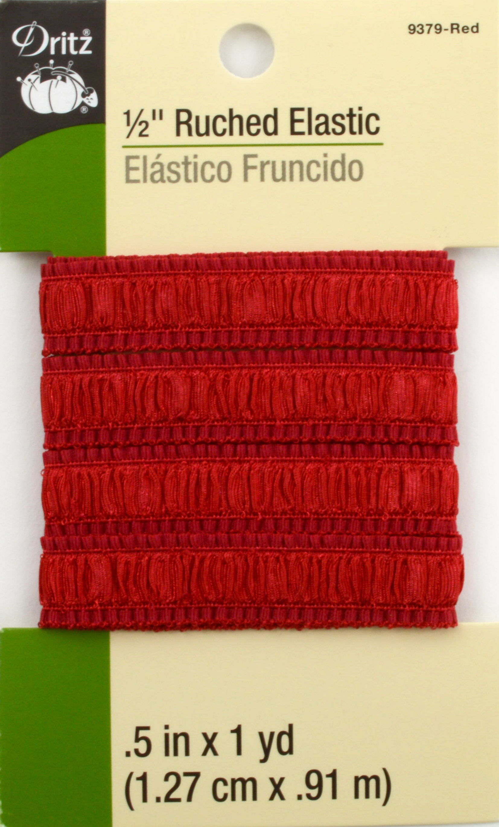 Dritz 1/2\u0022 Ruched Elastic Red 1Yd