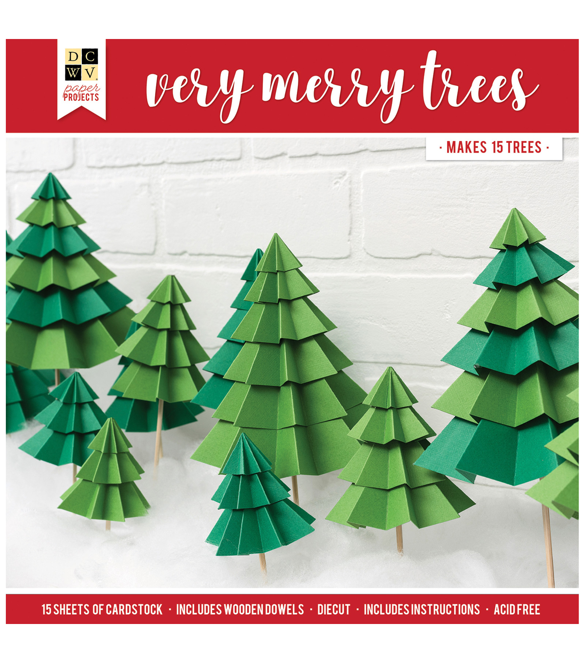 Die Cuts with a View Christmas Paper Projects-Very Merry Trees