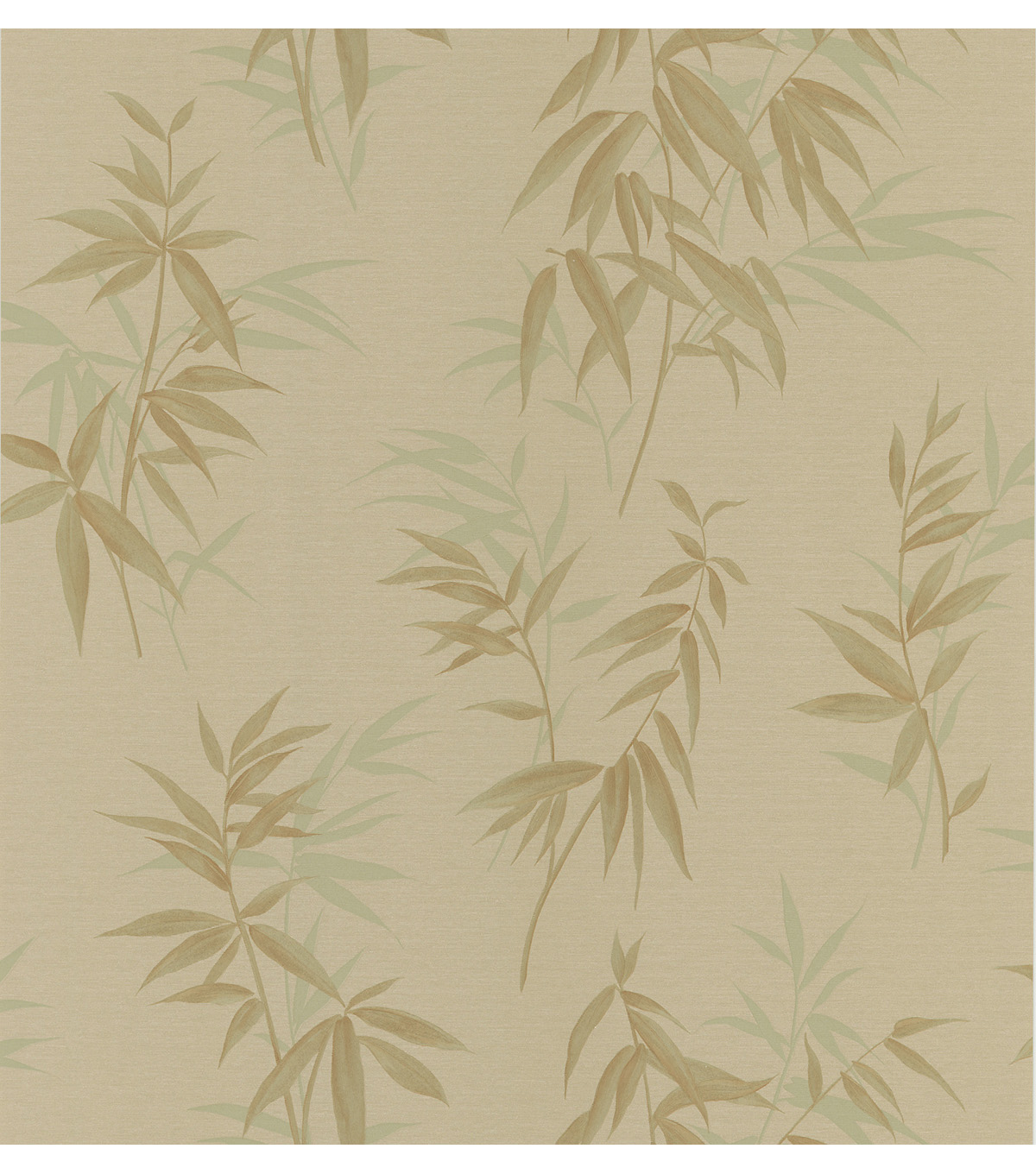 Bamboo Shoot Gold Leaves Wallpaper Sample