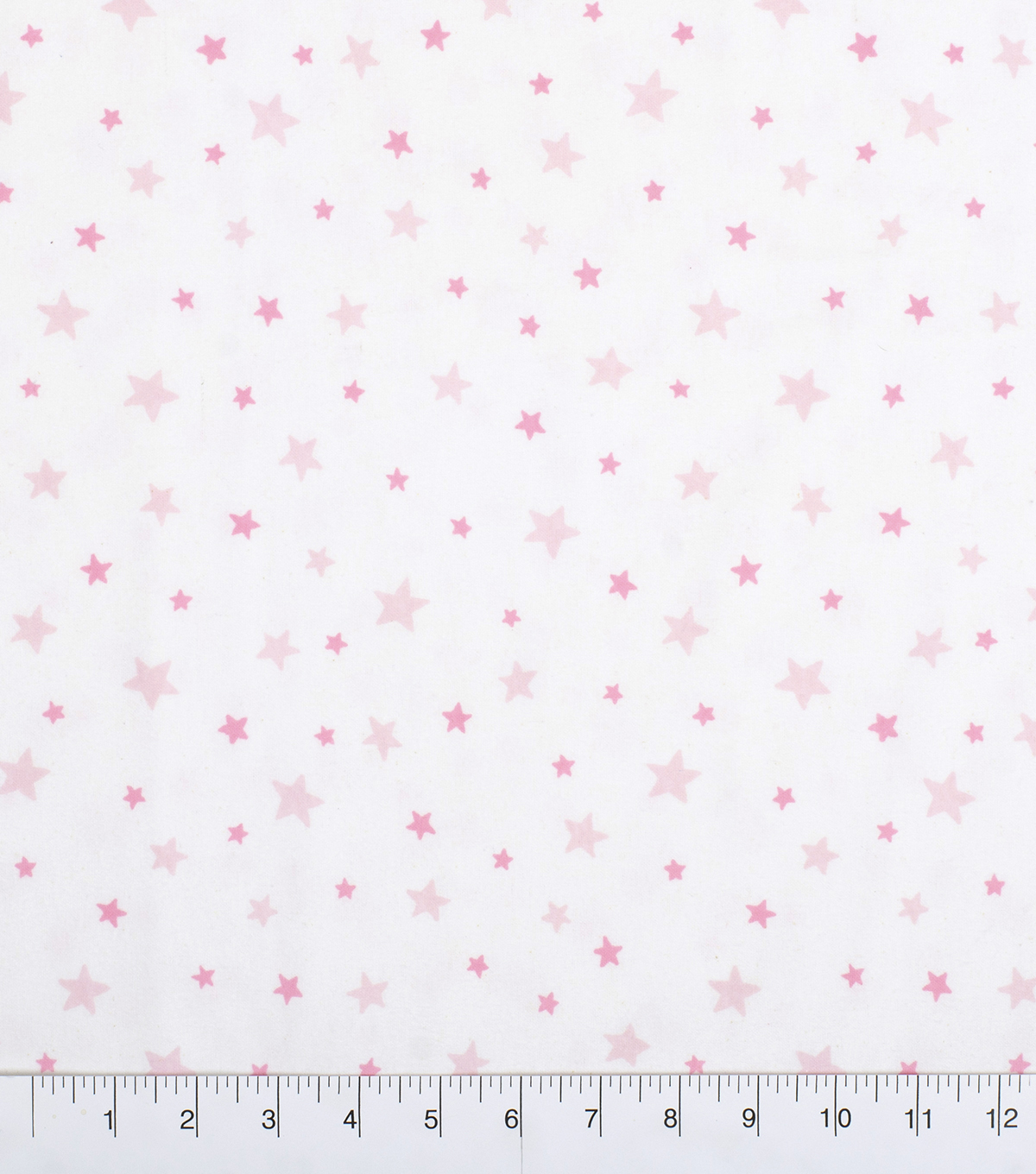 Nursery Flannel Fabric-White & Pink Good Night Stars
