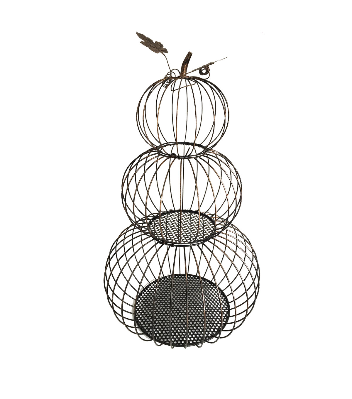 Simply Autumn Stacked Wire Pumpkin Porch Sitter