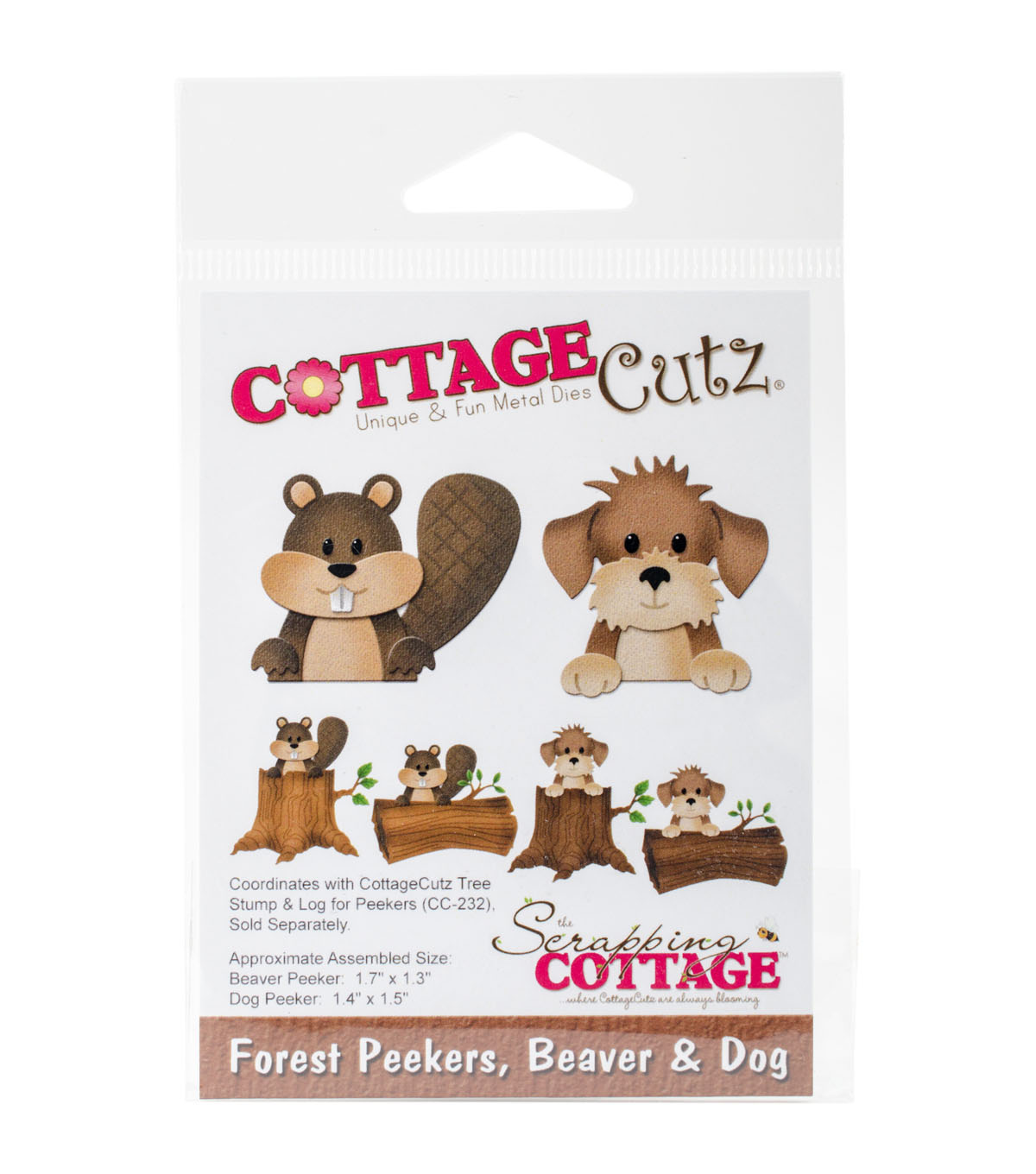 The Scrapping Cottage CottageCutz Dies-Forest Peekers, Beaver & Dog