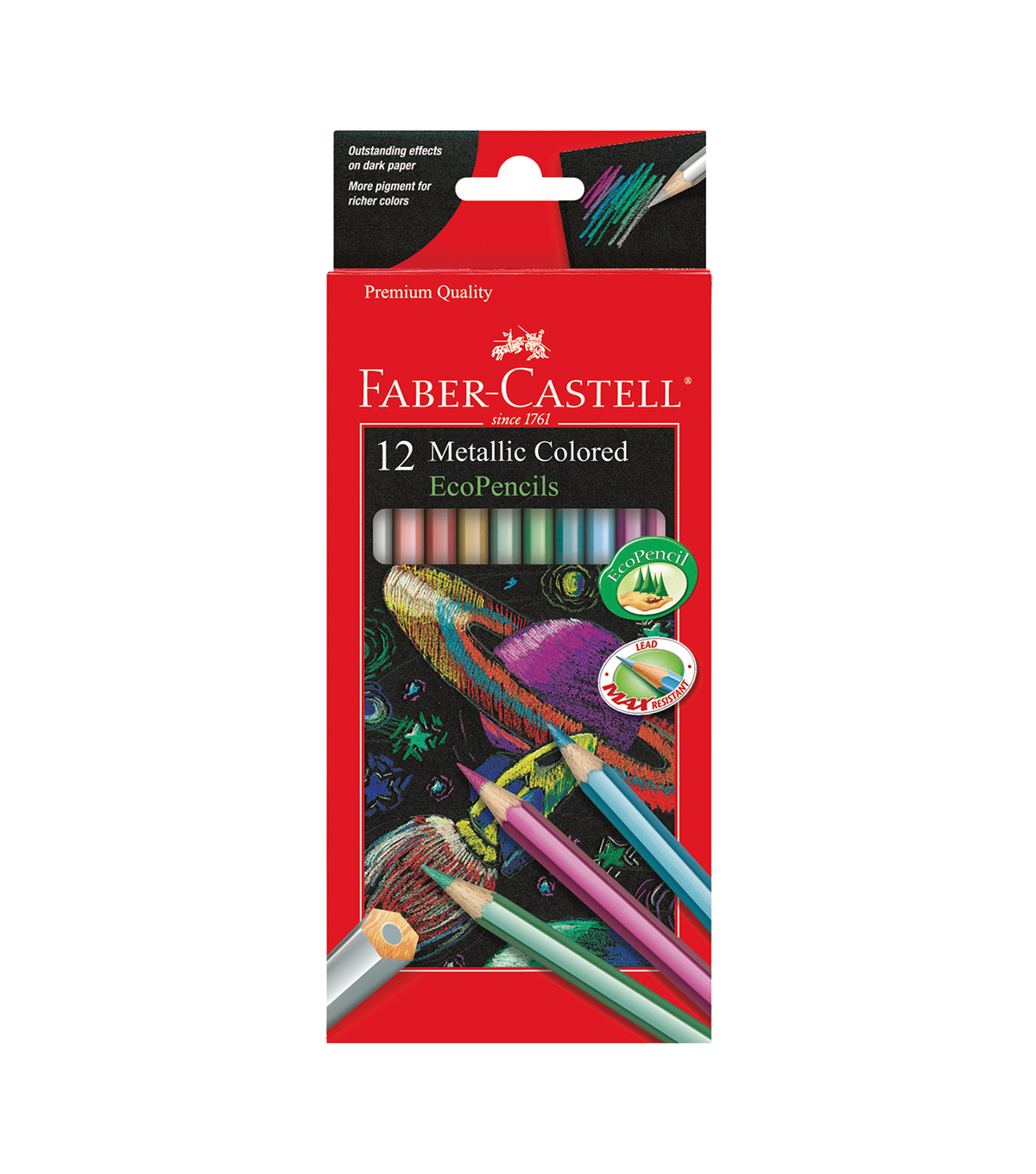 Faber-Castell 12 pk EcoPencils-Metallic Colored