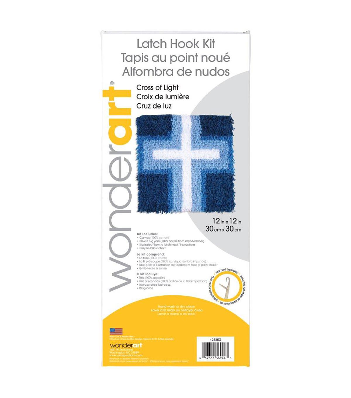 "12/"" X 12/"" Wonderart Cupcake Latch Hook Kit"