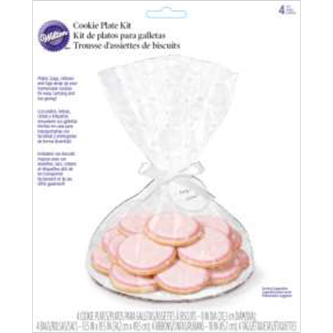 Cookie Plate Kit Makes 4-Clear