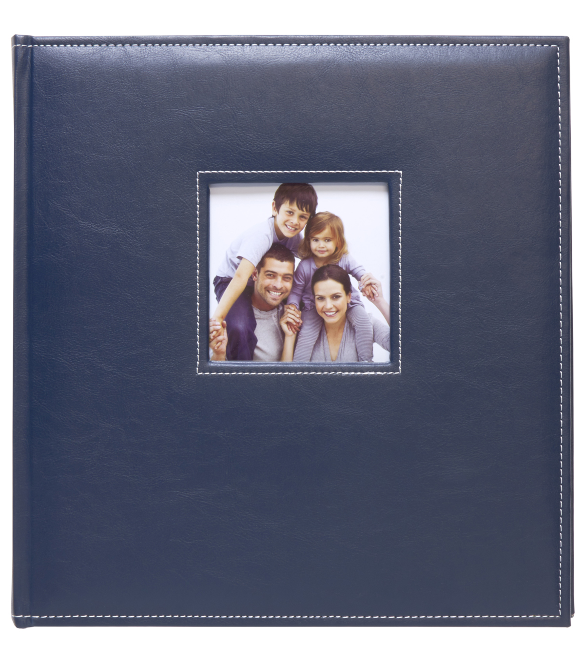K&Company Navy Faux Leather Stitched 5 Up Photo Album