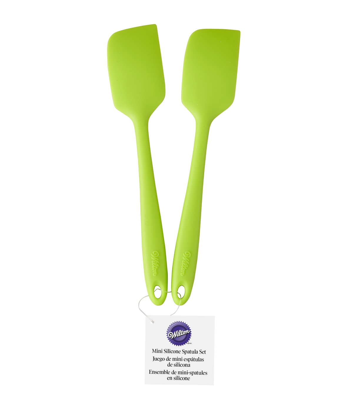 Wilton Mini 2pc Silicone Spatula Set-Green