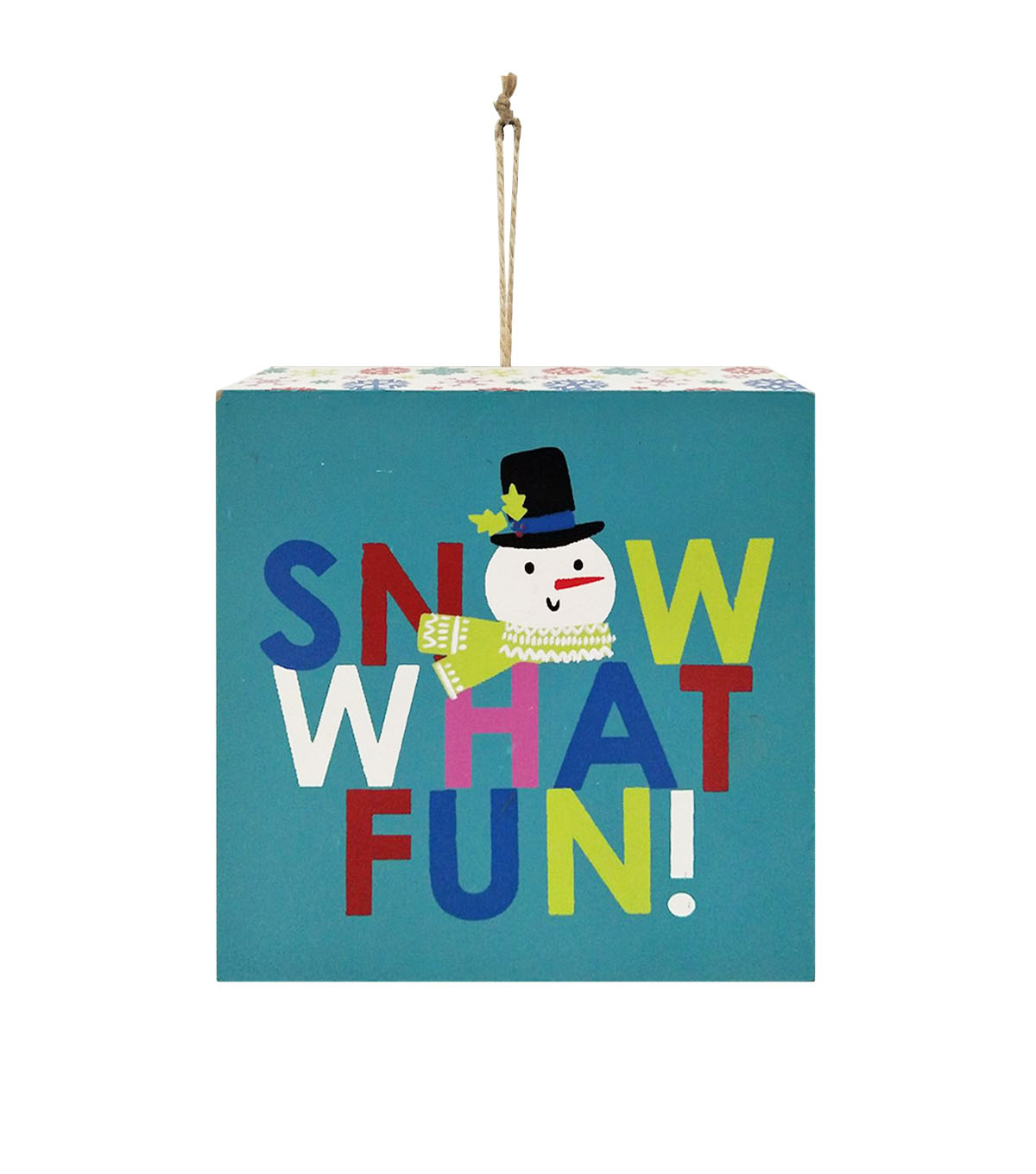 Maker\u0027s Holiday Christmas Wall Decor-Snow What Fun!