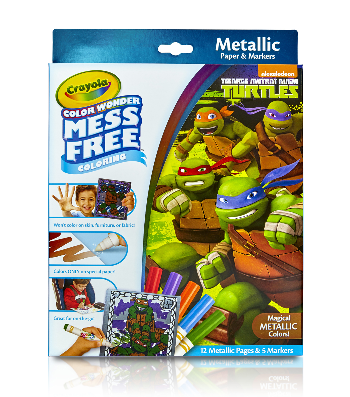 Crayola Color Wonder Teenage Mutant Ninja Turtles Metallic Coloring