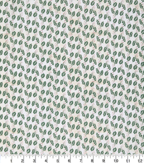 Christmas Cotton Fabric 43\u0022-White Holly Berries