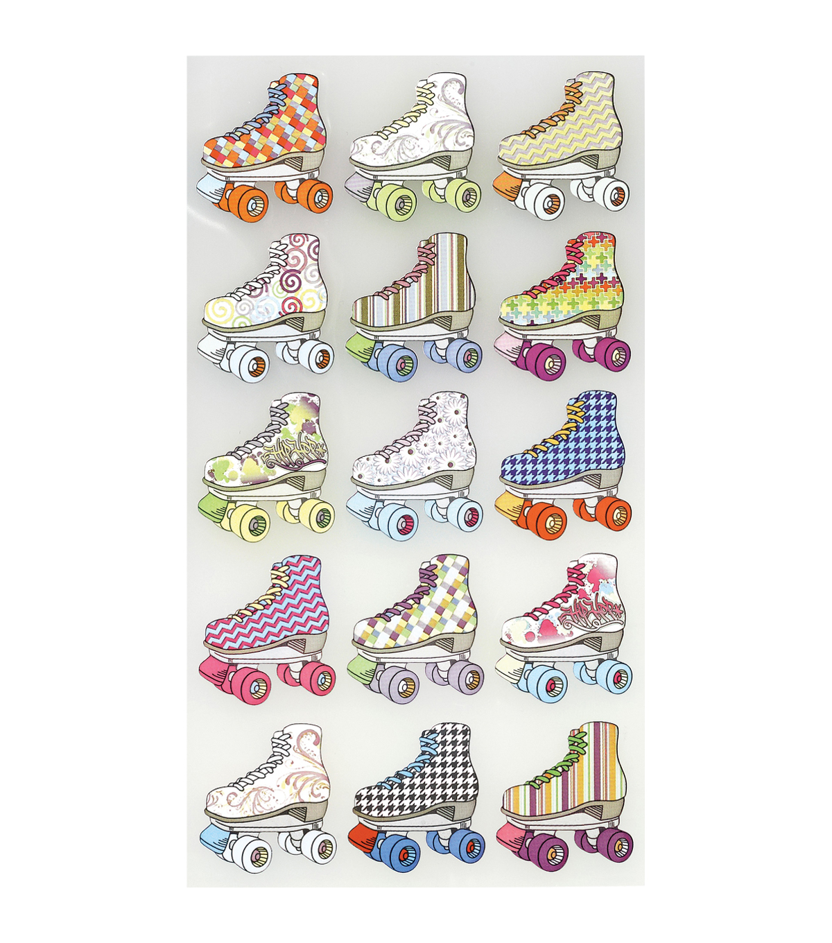 Sticko Classic Stickers Bright Roller Skates