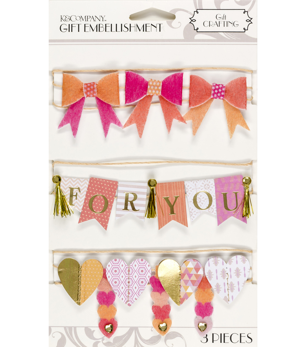 K&Company Warm Banner Gift Embellishment