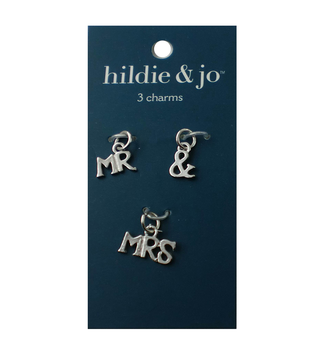 Blue Moon Beads Charm set Mr & Mrs Silver