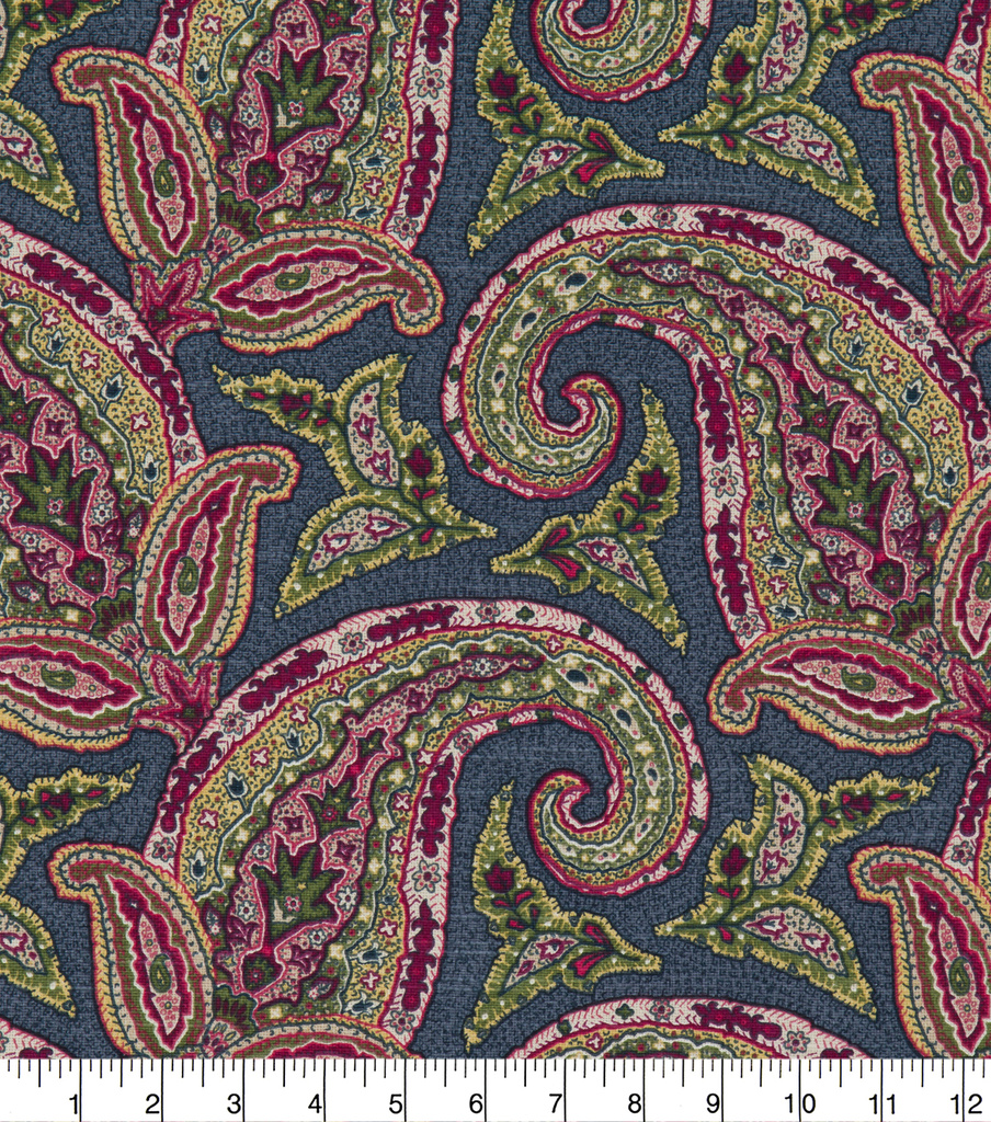 Robert Allen @ Home Print Swatch 55\u0022-New Paisley Berry Crush