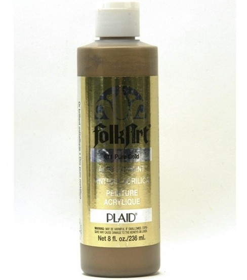 FolkArt Acrylic Paint-Metallic Pure Gold