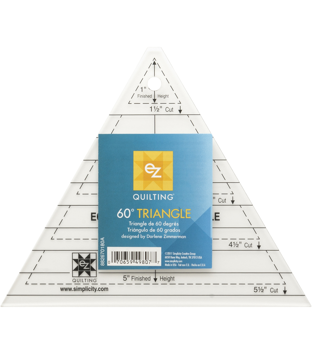 EZ Quilting Triangle Template Shape