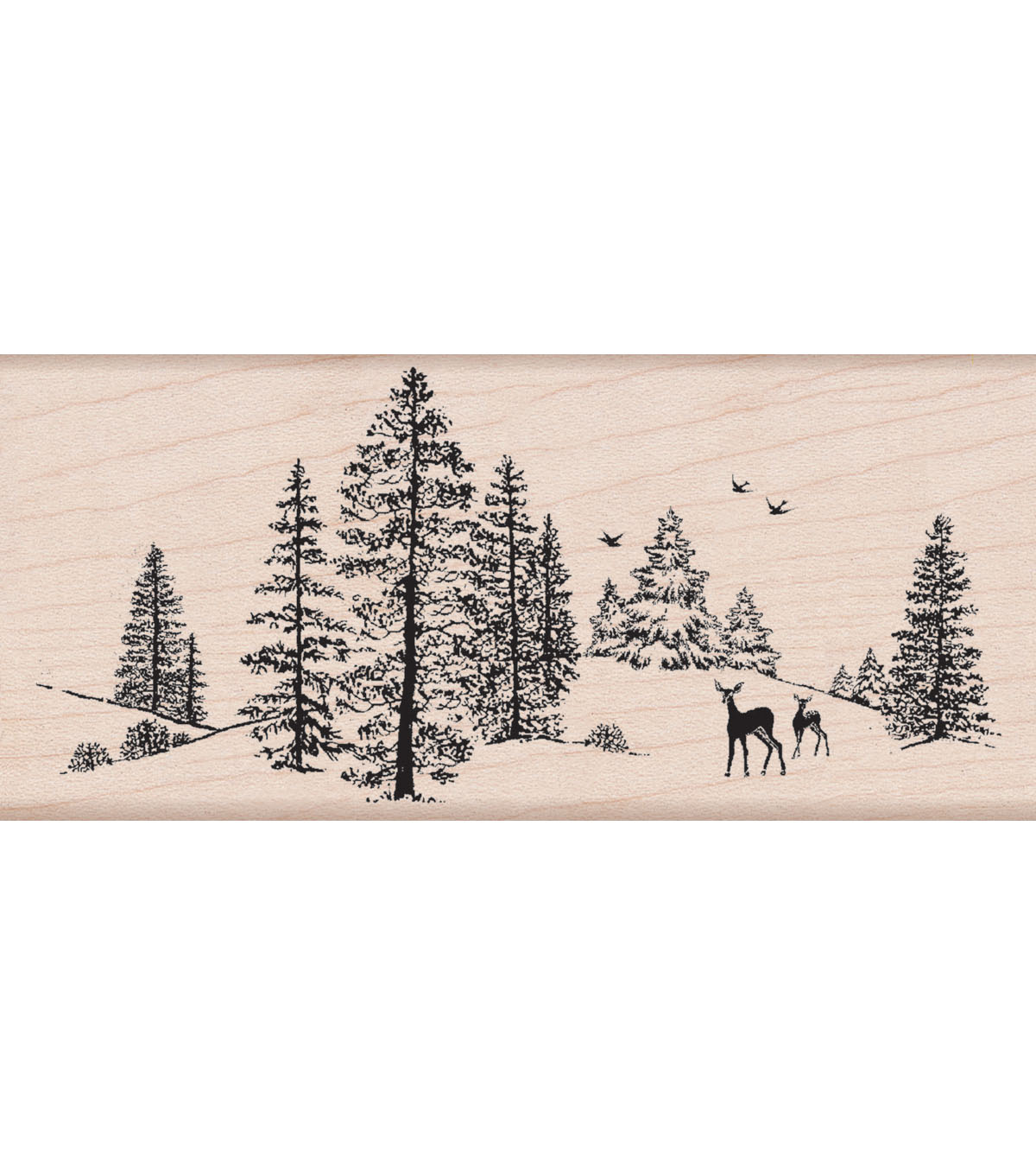 Hero Arts Mounted Rubber Stamp-Winter Scene