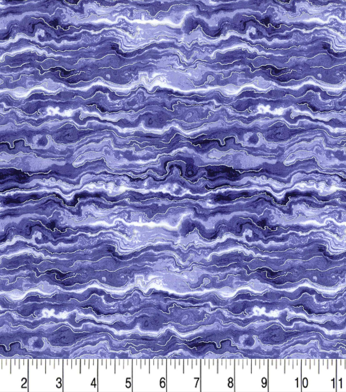 Premium Cotton Fabric -Oil Slick Denim Pearl