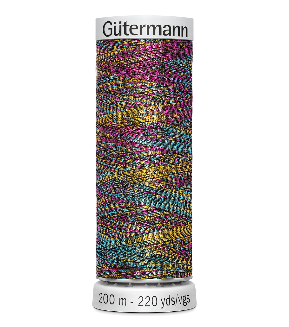 Gutermann 200M Dekor Thread, 200m Dekor Metallic-variegated